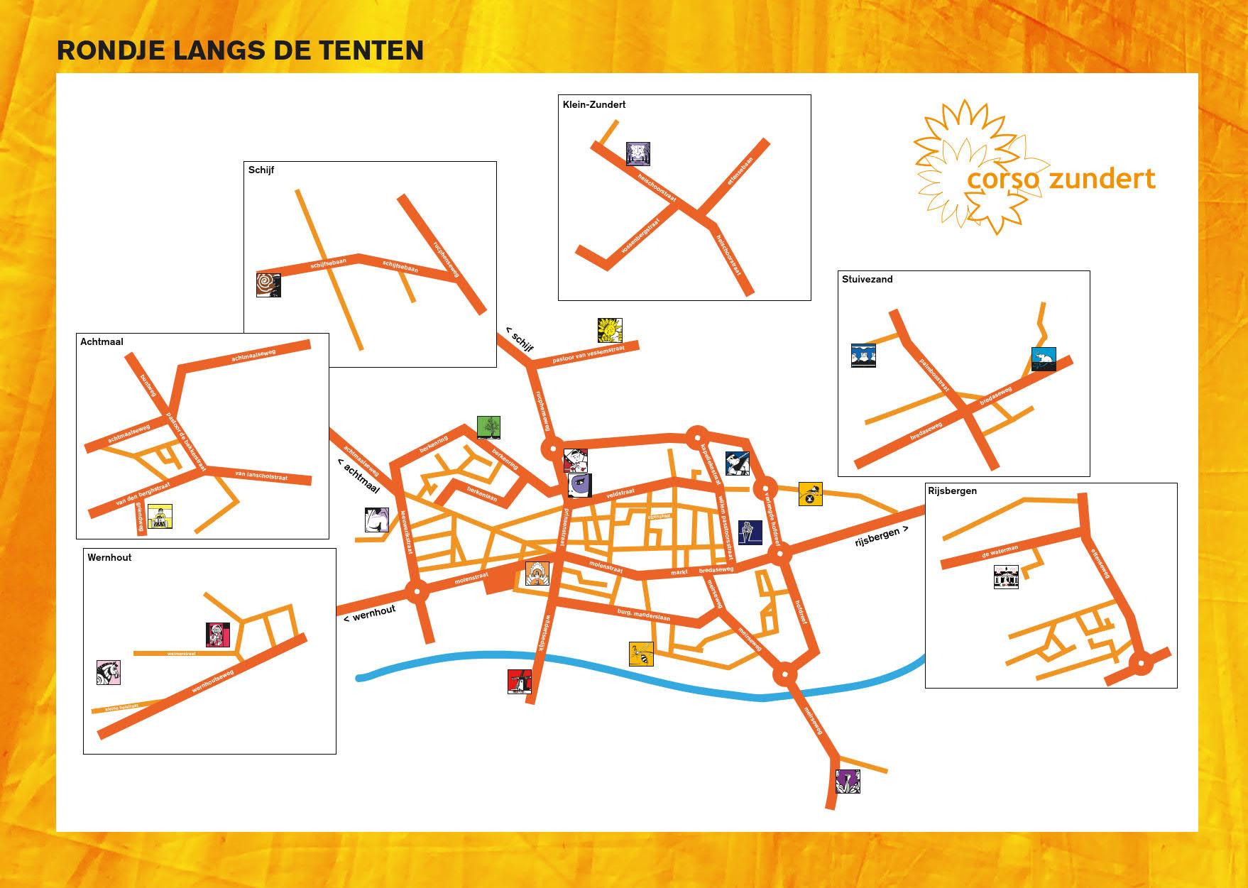 Corso bouwplaatsen plattegrond